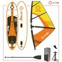 Zray SUP komplet W1 Windsurfing 10' + jadro + veslo + tlačilka + nahrbtnik