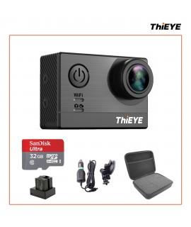 Komplet: ThiEYE T5 4K športna kamera + dvojni polnilec + avto komplet + kovček + microSD 32 GB