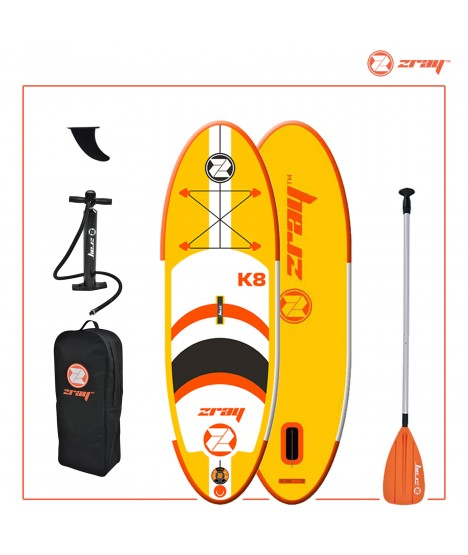 SUP Kit: Zray Board K8 '8 + Alu Paddle + Pump + Leash + Bag