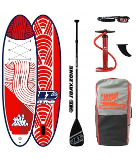 JBay.Zone SUP Pack H3 Amura 9'9'' + Paddle + Pump + Backpack + Leash