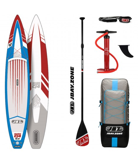 JBay.Zone SUP Pack 12.6 Cj4 Rush + Paddle + Pump + Backpack + Leash