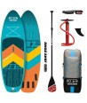 JBay.Zone SUP Pack 9.6 Y1 River Turquoise + Paddle + Pump + Backpack + Leash