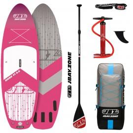 JBay.Zone SUP Pack 9.6 Y1 River Pink + Paddle + Pump + Backpack + Leash