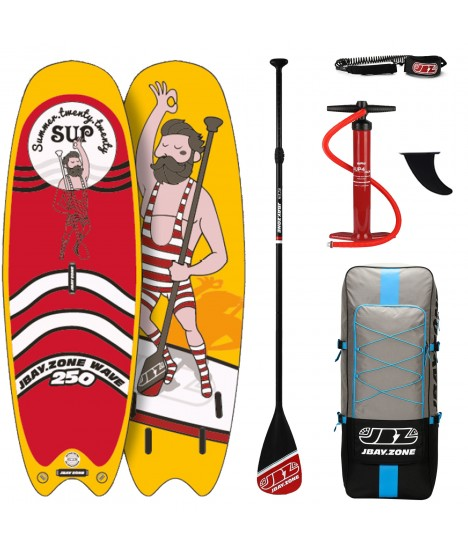JBay.Zone SUP Pack 8.2 Y2 Wave + Paddle + Pump + Backpack + Leash